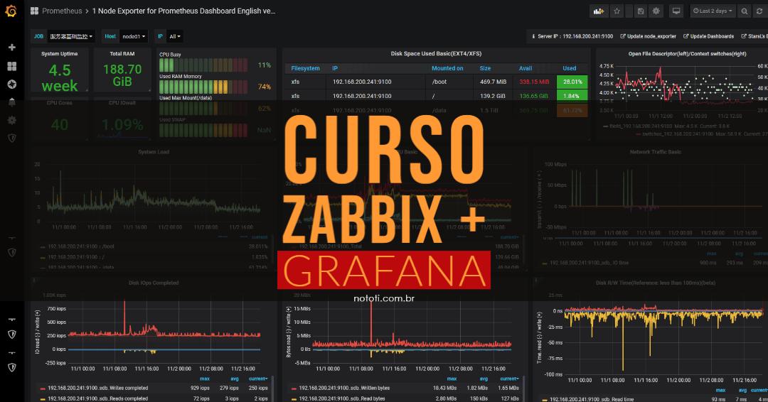 Curso Zabbix Grafana: Seja um especialista completo em Monitoramento