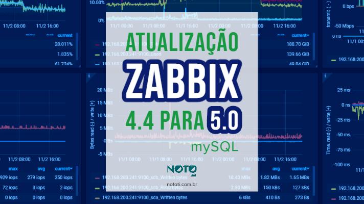 Atualização Zabbix 4.4 para 5.0 mySQL; confira tutorial