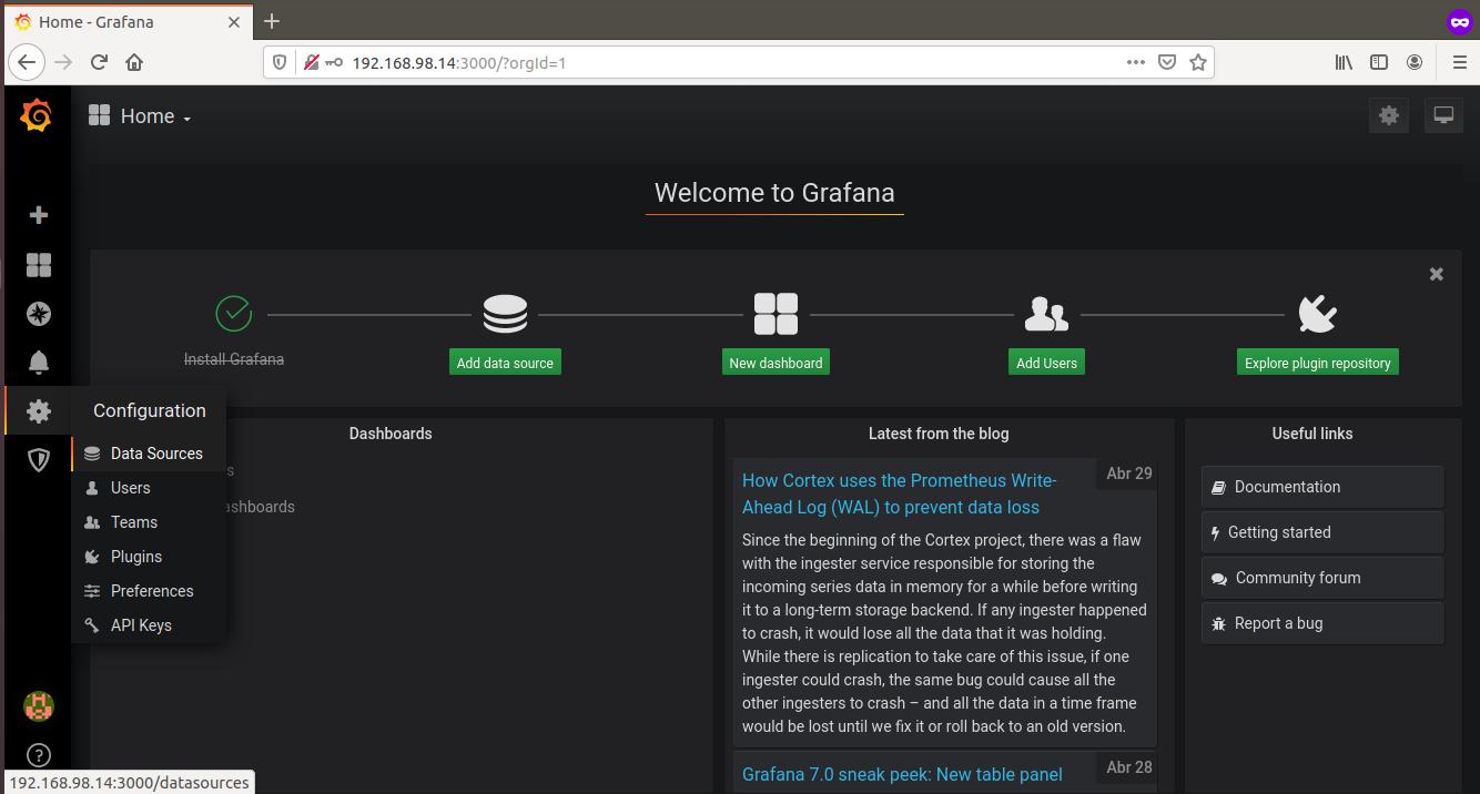 grafana zabbix em ubuntu