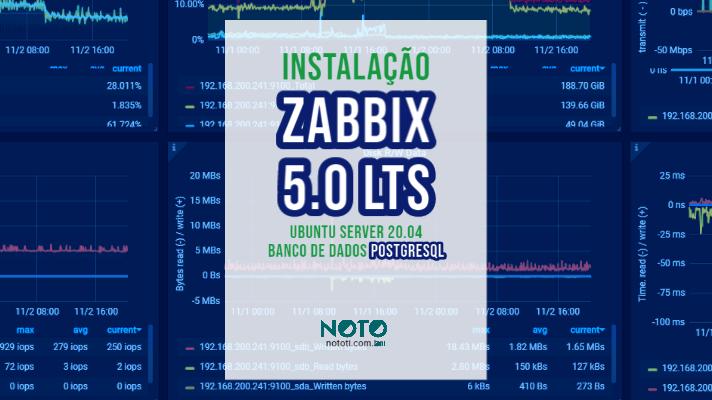 Instalação Zabbix 5.0 LTS UBUNTU Server 20.04 com Banco PostgreSQL