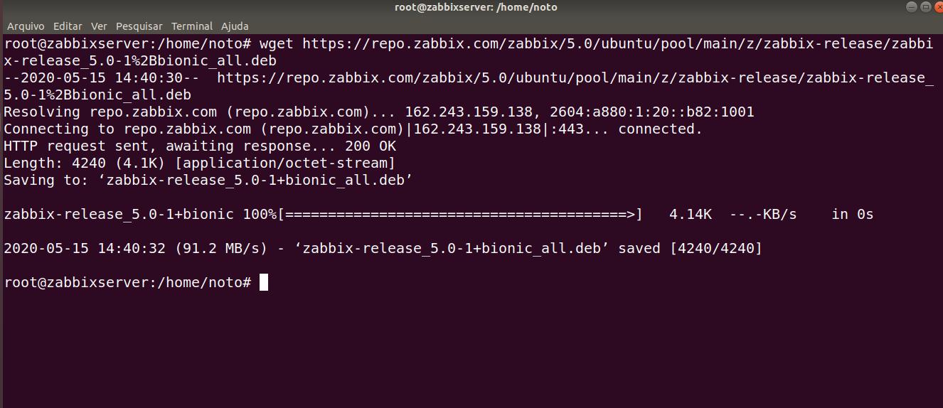 Instalação Zabbix 5.0 LTS UBUNTU Server 20.04 Banco TimescaleDB