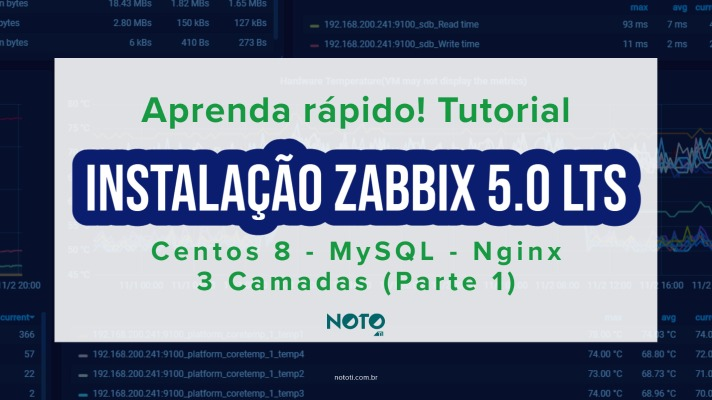 Zabbix instalação 3 Camadas