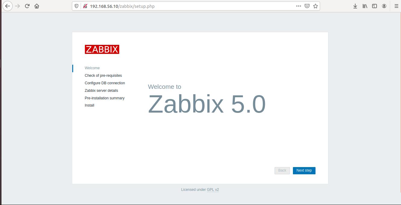 Instalar Zabbix 3 Camadas
