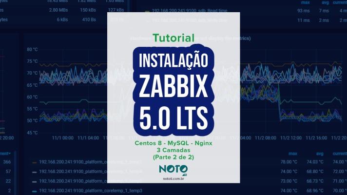 Instalar Zabbix 3 Camadas: Centos 8 MySQL Nginx (Parte 2 de 2)