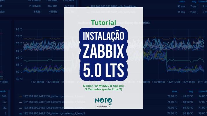 Zabbix Debian 3 Camadas Apache MySQL: Aprenda instalar (parte 2 de 2)